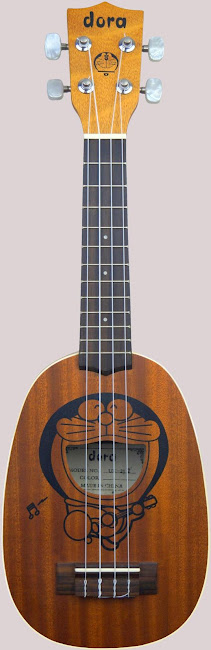 Doraemon Cartoon Pineapple soprano ukulele