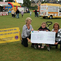 Presentation of cheque for £2,330 to Nicole Chorley. Fun Day 2011