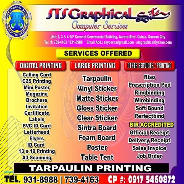 Tarpaulin digital printing cubao quezon city google