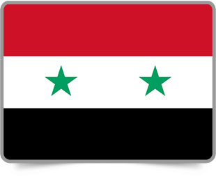 Syrian framed flag icons with box shadow