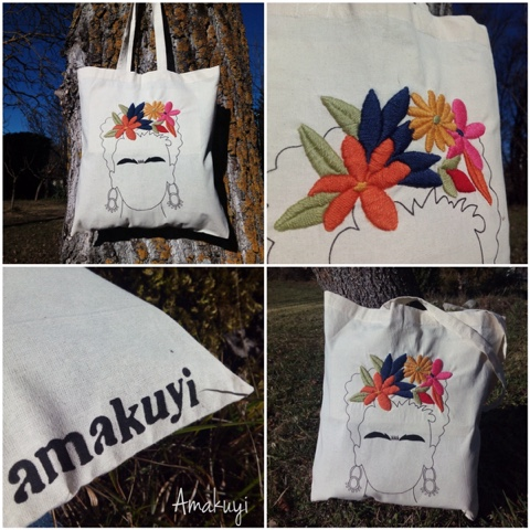 Tote-bag-bordada-handmade-pintada-Frida-kahlo