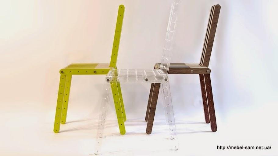 Различная окраска и различные материалы мебельного конструктора