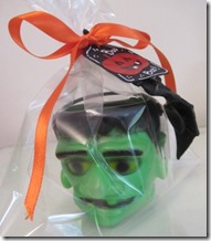 Halloween Frankenstein favour pot