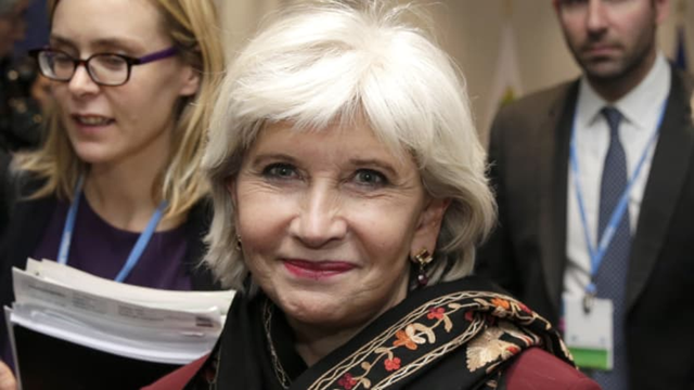 Laurence Tubiana, a respected French diplomat and economist, arriving for international climate talks in Paris in 2015. Photo: Philippe Wojazer / AP