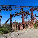 """Estação de """"esticamento"""" dos cabos - Cable Carril - Chilecito, Argentina"""