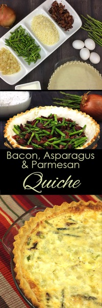 Bacon parmesan and Asparagus quiche