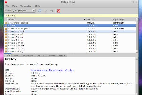 Octopi su Arch Linux