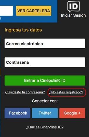 Abrir mi cuenta Cinepolis - 526