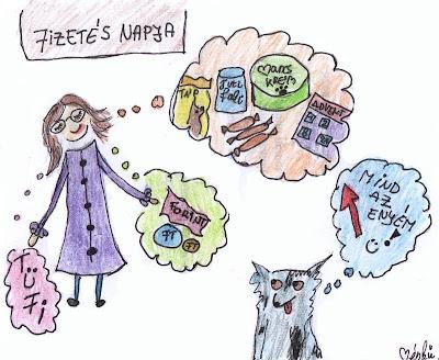 mudis naptár 11.10.09.Egy kutyaboltmániás fizetés napján   Ménkű a mudim mudis naptár