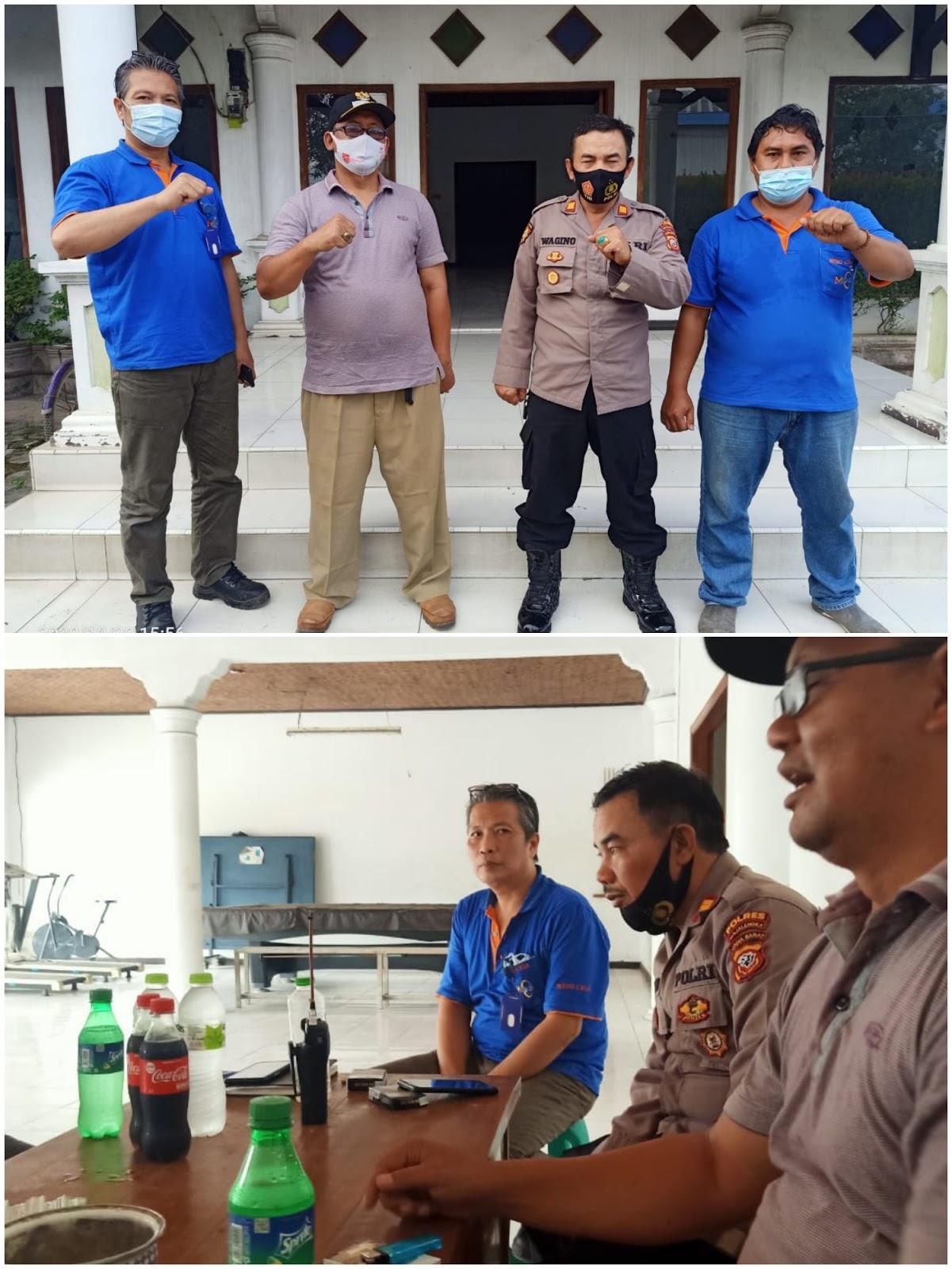 Polsek Dawuan Polres Majalengka Sosialisasikan 3M dan Prokes di PT. Ming Chia