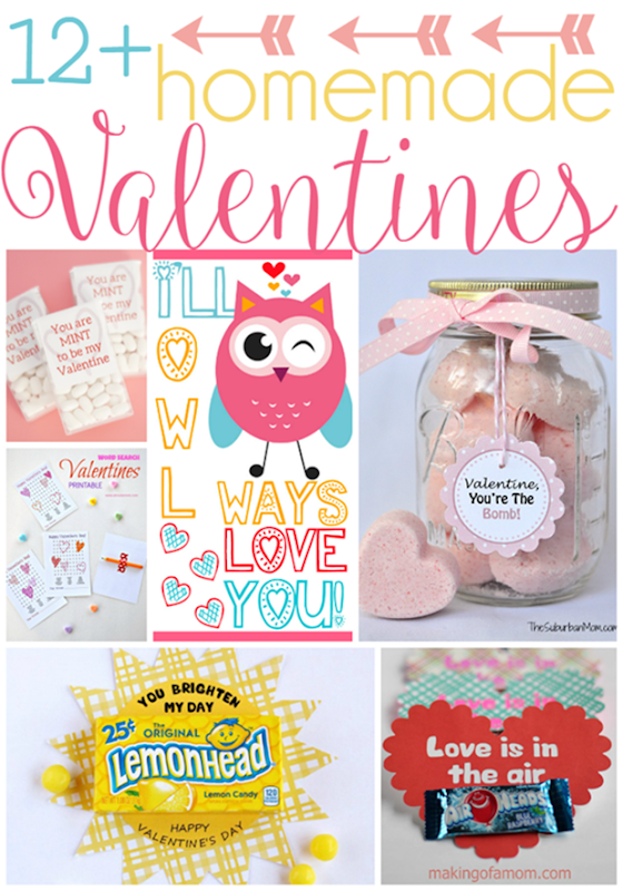 Over 12 Homemade Valentines at GingerSnapCrafts.com #linkparty #features_thumb[1]