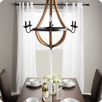 oil rubbed chandelier overstock