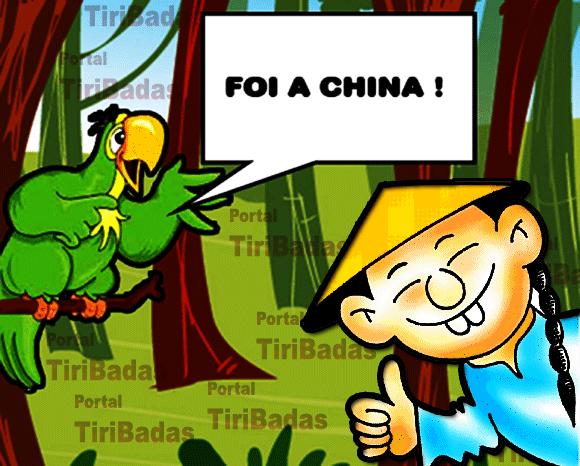 Foi a China!
