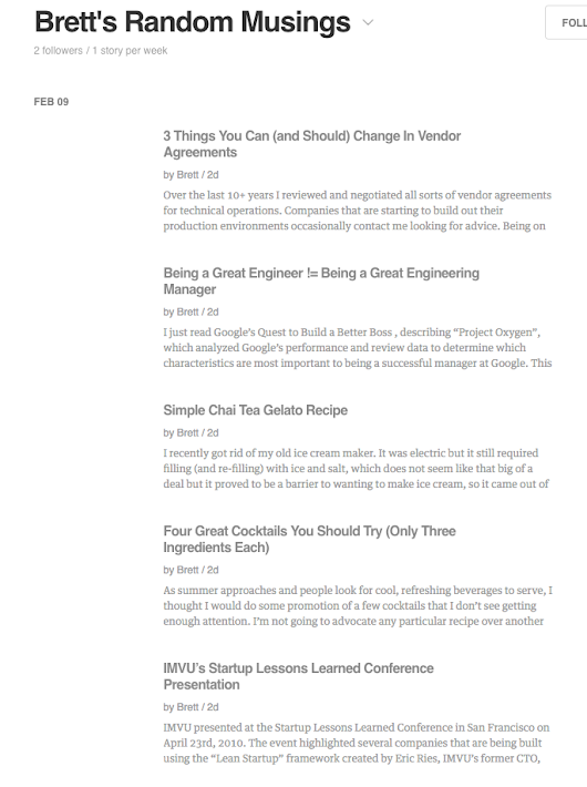 Feedly seems to have a bug where this feed is showing old content and not inc...