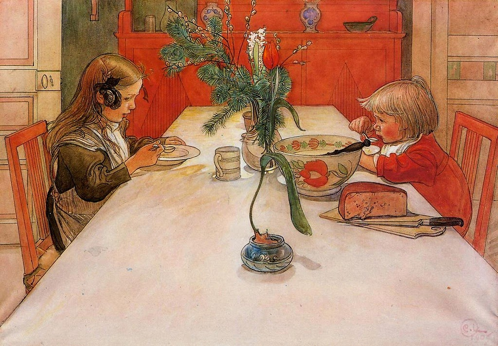 Carl Larsson - Evening Meal, 1905