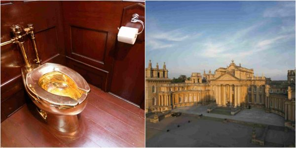 A N450million (£1m) strong gold toilet stolen from palace in UK