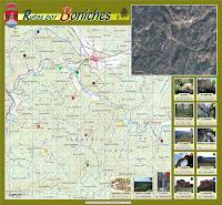 Mapa de rutas por Boniches, Serranía de Cuenca. Se puede descargar en tamaño completo en www.serraniadecuenca.net