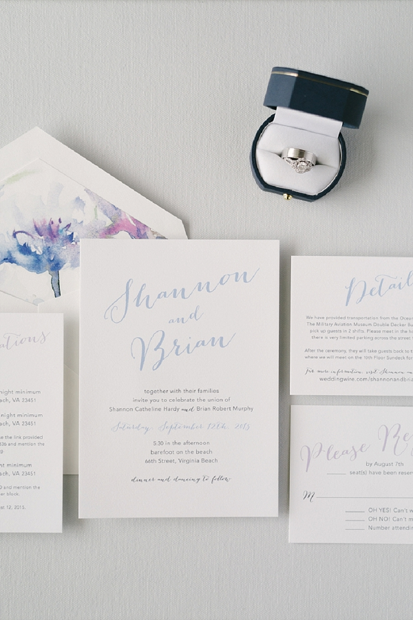 Modern Tropical Watercolor Beach Wedding Tidewater And