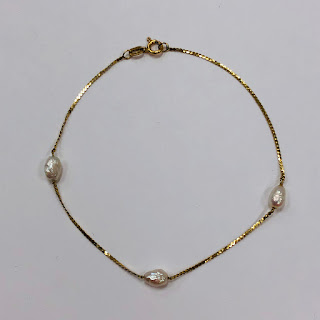14K Gold and Pearl Bracelet