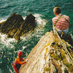 1998.08 Helen Kirby and Scott Titt on Brown Slab, Porth y FFynnon, Pembroke.jpg
