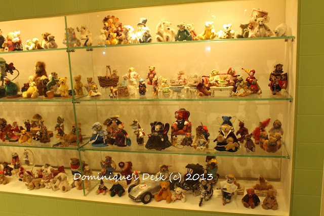 Mini bears in a showcase