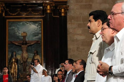 Attendance at Catholic mass by Cuban officials unprecedented