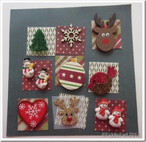 Patchwork Christmas Memory Frame