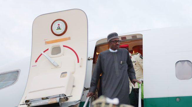 President Buhari Departs From Daura To Abuja