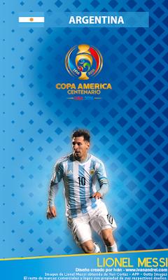 Wallpaper Copa América 2016 – Argentina (Lionel Messi) - 480x800