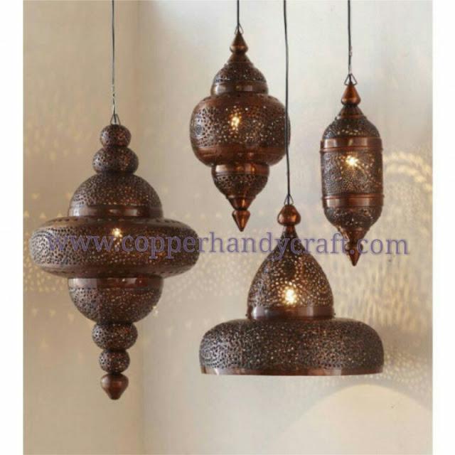 lampu-gantung-maroko-kuningan-tembaga