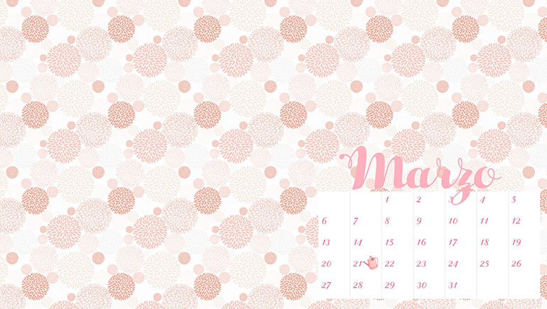 fondo de pantalla con calendario the white curl