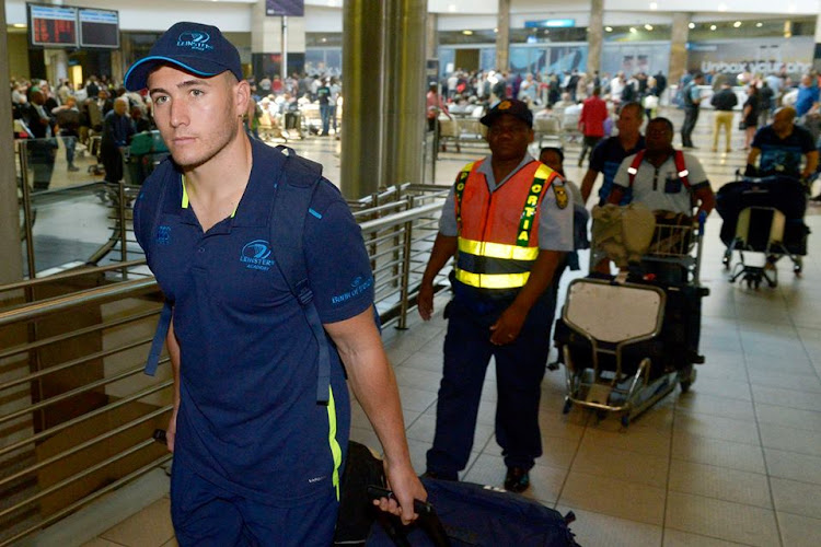 Leinster players arriving at OR. Tambo International Airport in Johannesburg on Wednesday 13 September 2017.