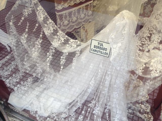 Telas para vestido de novia en once