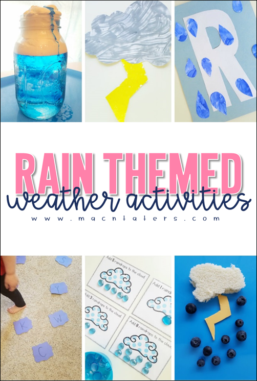 Rain Themed Weather Activities for Kids