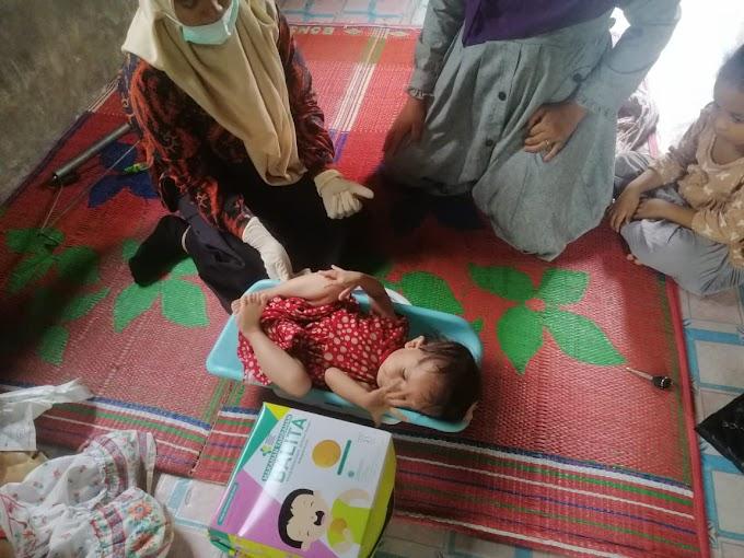 Alami Masalah Kesehatan, Tiga Balita di Desa Krueng Lingka Langkahan Perlu Perhatian Serius Pemerintah.