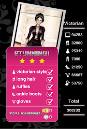 Style Me Girl Level 48 - Victorian - Dot - Stunning! Three Stars