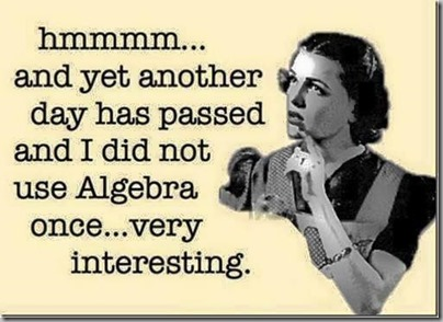 did not use algebra
