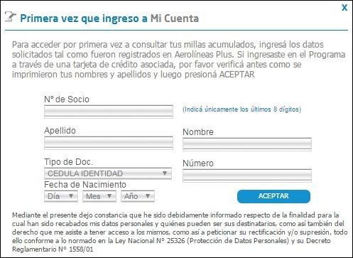 Abrir mi cuenta Aerolineas Argentinas - 5