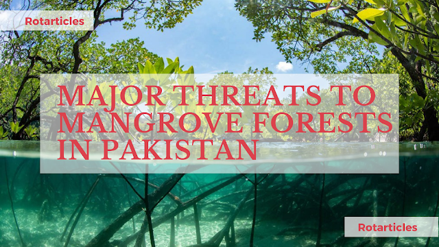 MAJOR THREATS TO MANGROVE FORESTS IN PAKISTAN