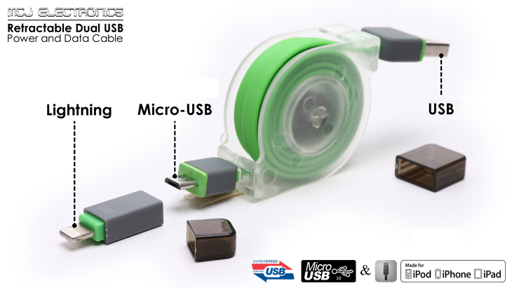 Premium quality Retractable Dual  Micro USB and Apple Lightning 8 pin  connector  to USB Cable for your power and data transfer needs Retractable 2 in 1  Micro USB   Ligh  end 7 31 2018 7 15 PM . Retractable Lightning To Usb Cable. Home Design Ideas