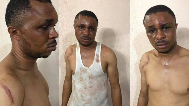 Man Mercilessly Beaten Up, Locked In Car Booth For Sleeping With a Policeman's Wife (Photos)