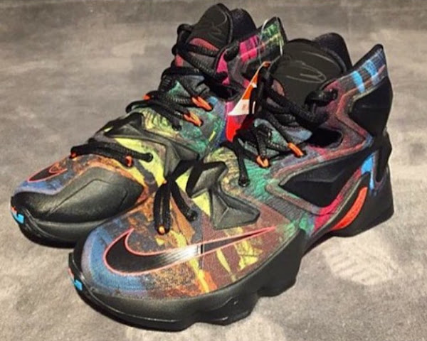 reputable site b22f7 81939 Does This Crazy Colored Nike LeBron 13 Save the Shoe? | NIKE ...