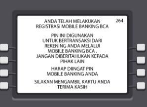 Registrasi BCA Mobile Di ATM Bank BCA
