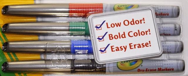 Bộ bút lông Crayola Fine Line Dry-Erase dễ dàng lau khô