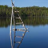 Вышка на озере Балтэзерс