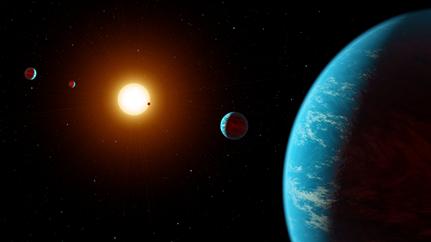 ilustração do sistema K2-138