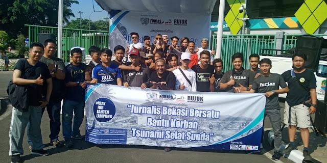 Jurnalis Bekasi Gelar Aksi Galang Dana Tsunami selat Sunda