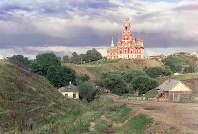 Общий вид на Можайский Николаевский собор с юго-западной части города в 1911 году