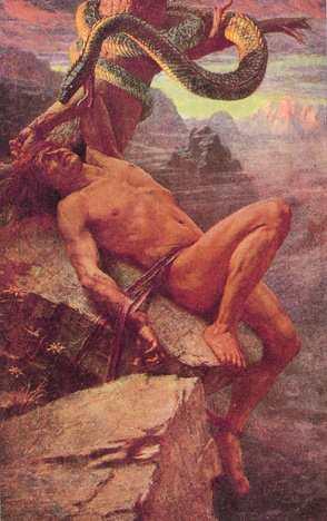 Loki Torment, Asatru Gods And Heroes