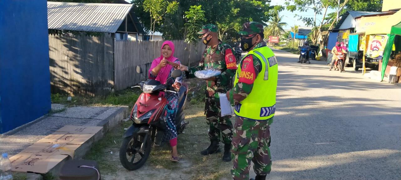 Serbuan Teritorial Kodim 0908/Bontang Berupa Pembagian Masker